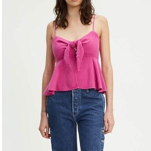 NWT Levi's Made & Crafted Pink Italian Silk Cami